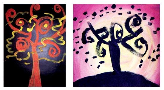 幼儿园中班美术活动设计 会跳舞的树