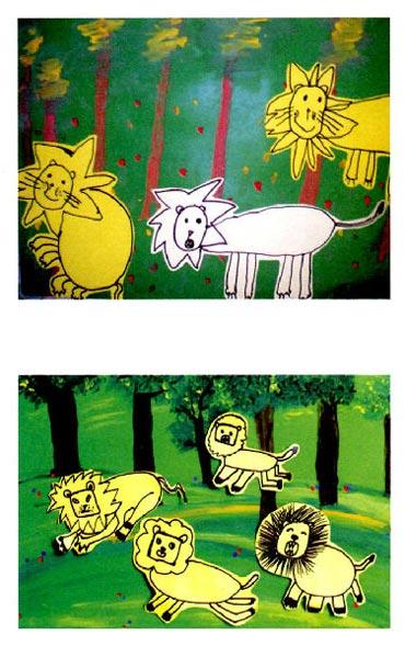 幼儿园中班美术活动设计:狮子王