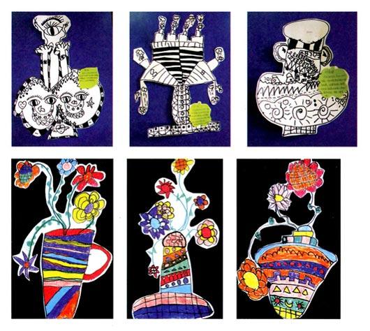 幼儿园中班美术活动设计:百变的花瓶