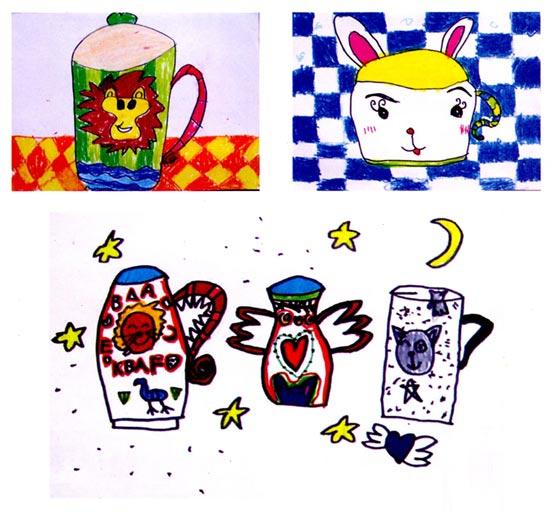 幼儿园中班美术活动设计:千奇百怪的杯子