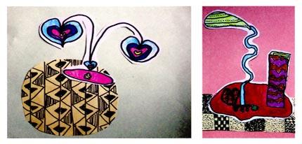 中班美术教案设计:我的小台灯图片