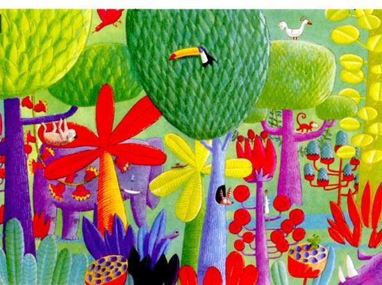幼儿园中班美术教案设计:童话树林 活动目标 1、尝试用多种线条来表现大树的树叶和树枝的形态。 2、欣赏、感知画面中大树形态的丰富性,并尝试迁移和运用。 3、愿意大胆想象,体验与众不同的乐趣。 活动准备 1、幼儿写生过实物的树;教师带领幼儿阅读过绘本《我爱你,小猴子、》。