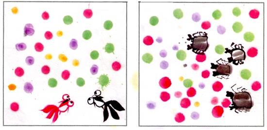 幼儿园中班中国画教案设计:可爱的小鸡