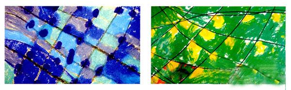 幼儿园中班美术教案彩色画活动:好大的向日葵—幼儿