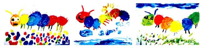 幼儿园中班画画教案设计:胖乎乎的毛毛虫